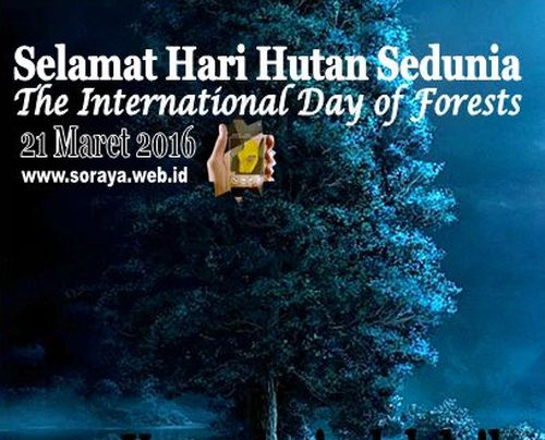 Selamat Hari Hutan Sedunia International Day of Forests