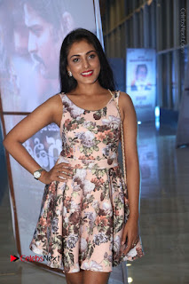 Actress Madhu Shalini Stills in Floral Short Dress at RGV Shiva to Vangaveeti Event  0016.JPG