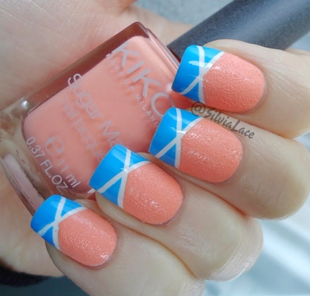 Silvia Lace Nails: Summer Tape Nanicure