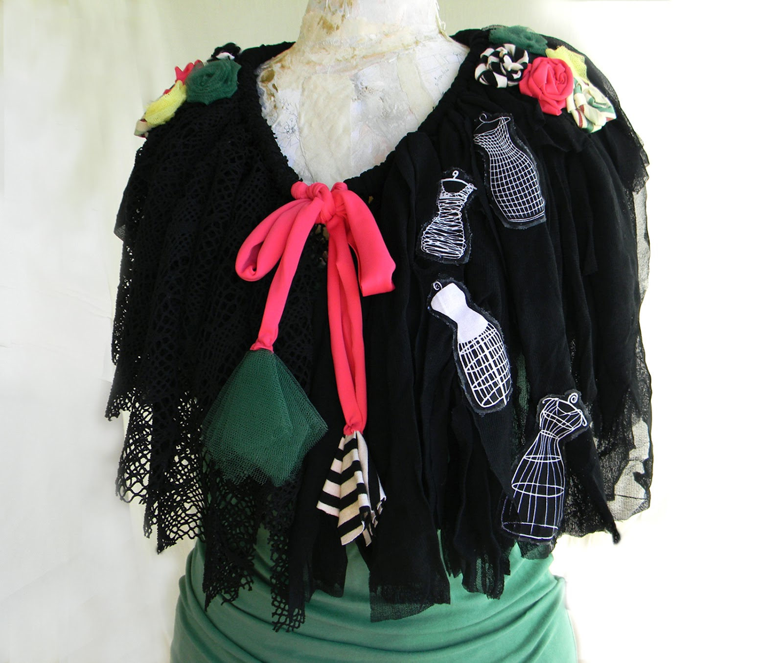 Whimsical Art Capelet Gothic Circus Inspired