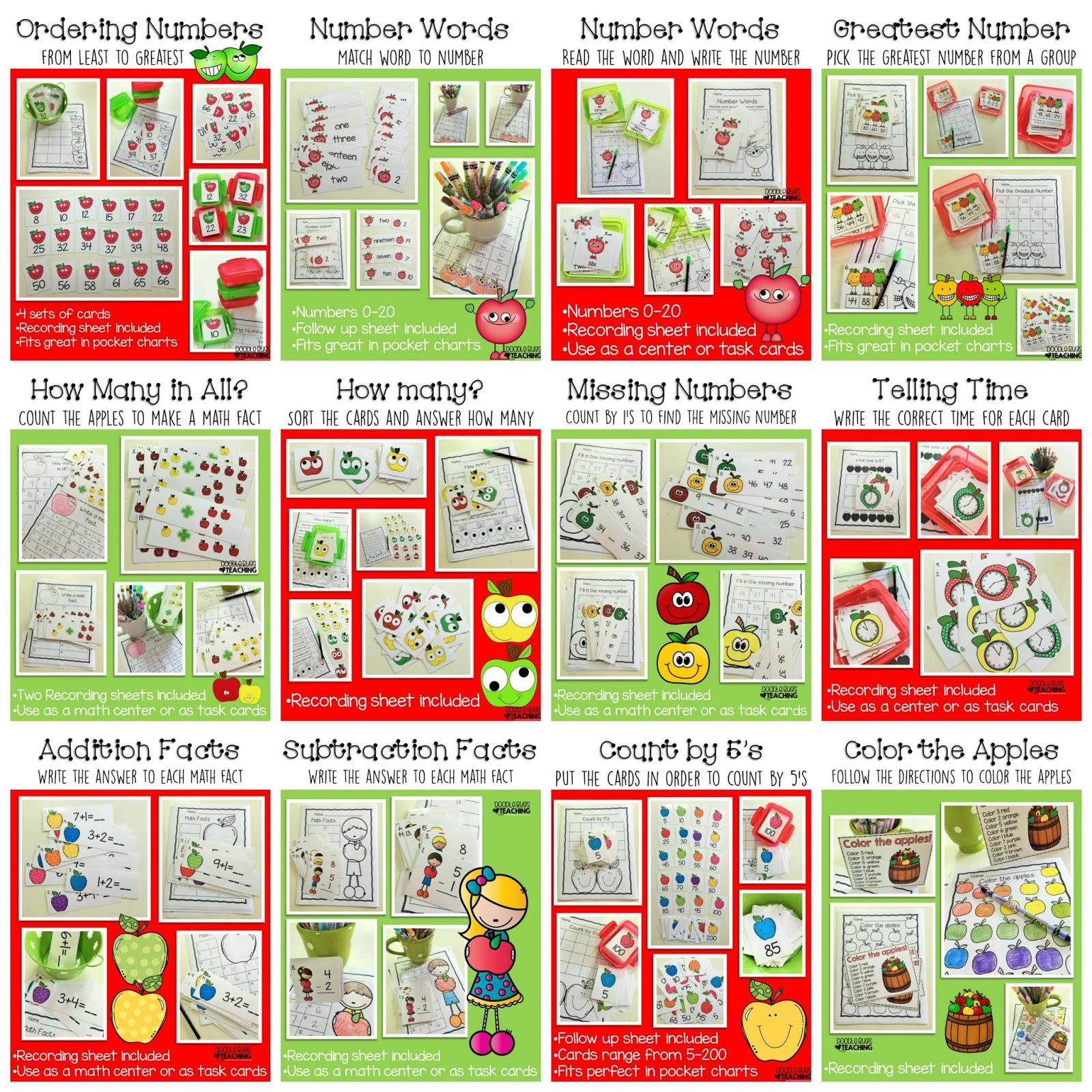 Amazing Apples Math Centers   Doodle Bugs Teaching   Bloglovin\'