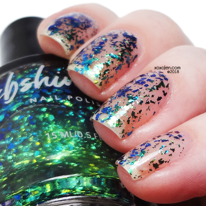 xoxoJen's swatch of KBShimmer Flake Expectations