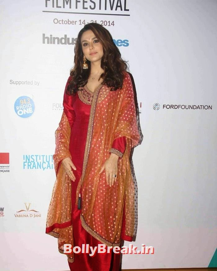 Preity Zinta at MAMI Film Festival, Preity Zinta in Red Punjabi salwar Kameez Suit, hot Photos