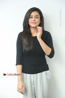 Telugu Actress Mishti Chakraborty Latest Pos in Black Top at Smile Pictures Production No 1 Movie Opening  0007.JPG