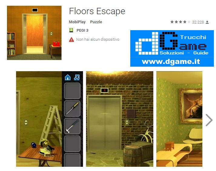 Soluzioni Floors Escape di tutti i livelli | Walkthrough guide