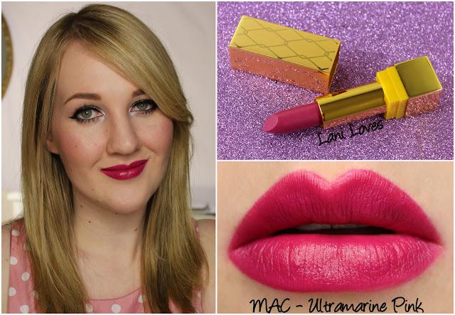 MAC Ultramarine Pink lipstick swatch