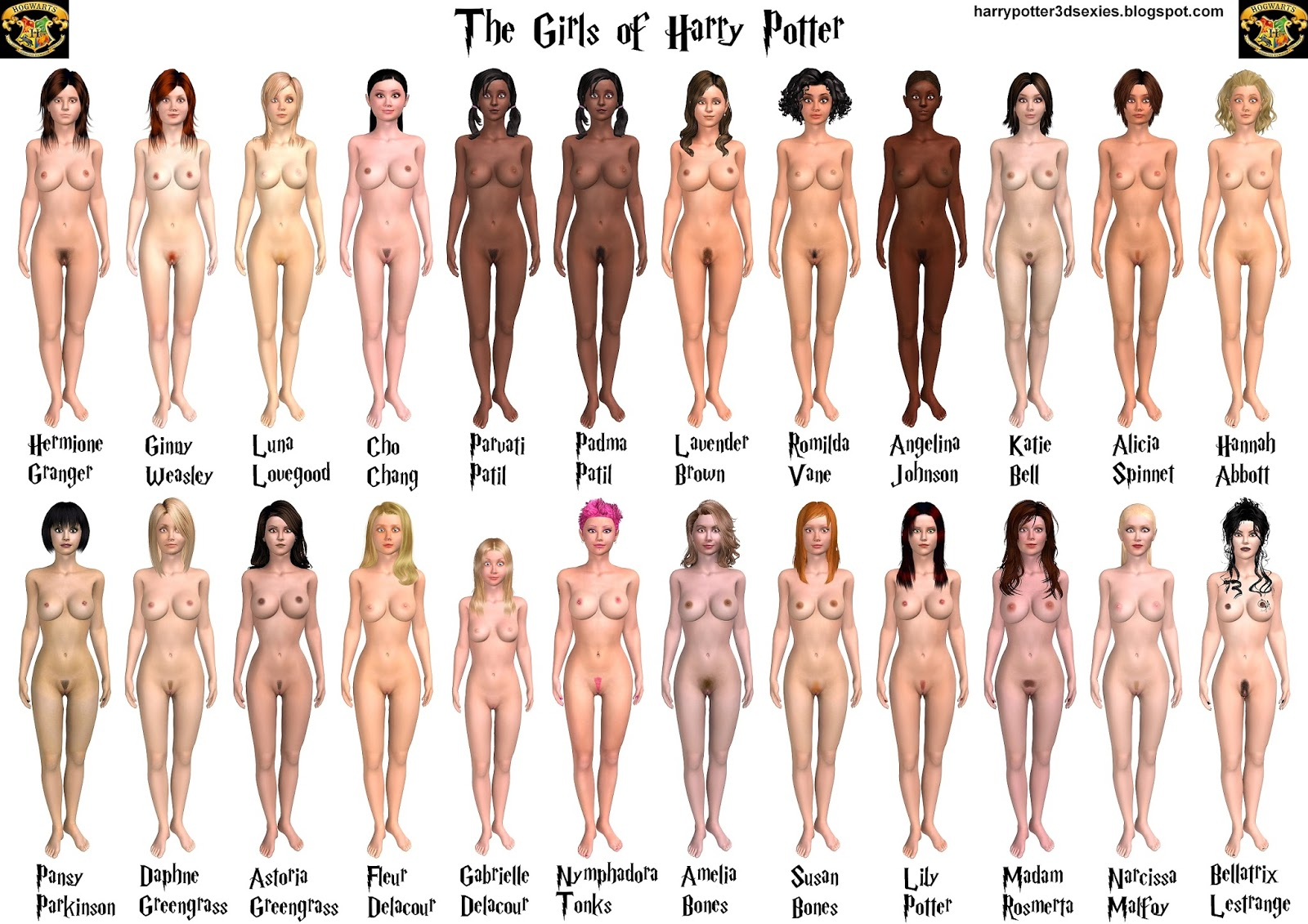 The girls of harry potter nude — 3