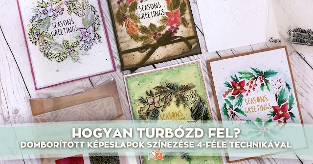 http://scrapbook.hu/2018/02/06/domboritott-kepeslapok-szinezese-4-fele-technikaval/