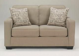 Earth-tone living room loveseat