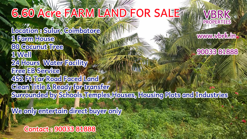 6 60 Acre Farm Land/ Agricultural Land For SALE ~ VBRK