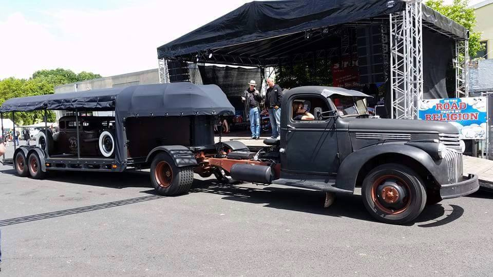 Just A Car Guy: Matching truck and trailer for a rat rod... they ...