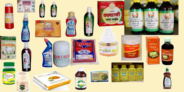 products made from Cow urine