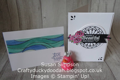 Craftyduckydoodah!, Painted Glass, June 2018 Coffee & Cards Project, Stampin Up! UK Idependent Demonstrator Susan Simpson, Supplies available 24/7 from my online store, #lovemyjob,