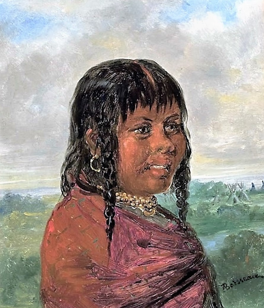 """choctaw women The subject is described by george catlin as having her hair in braids and a """"remarkable expression"""" the artist painted this choctaw woman at fort gibson, arkansas territory, in 1834."""