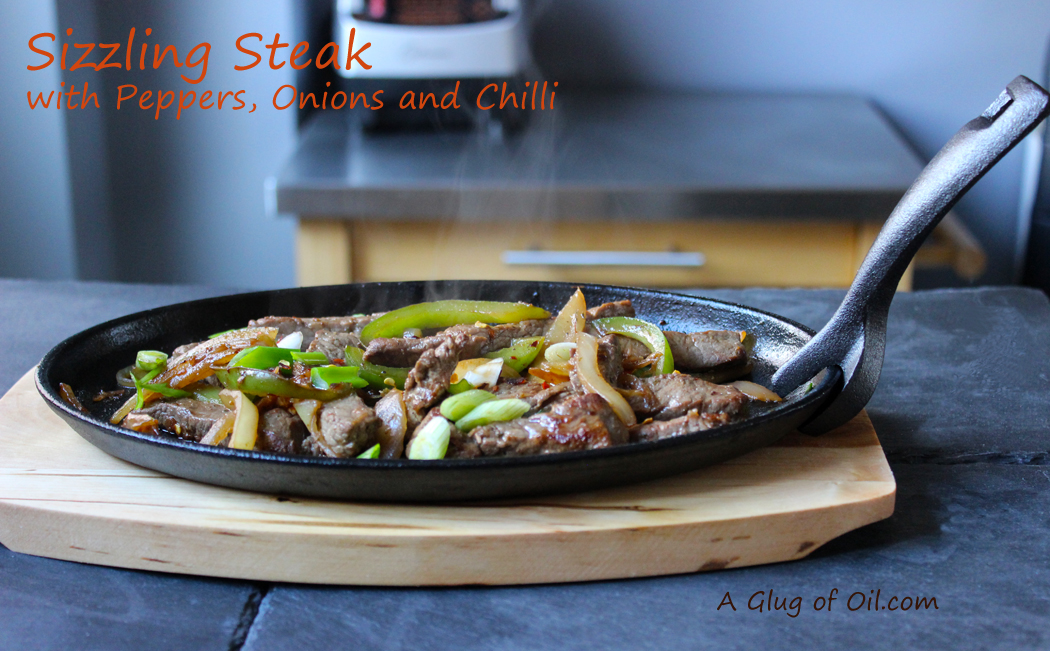 Sizzling Steak with Peppers and Onions