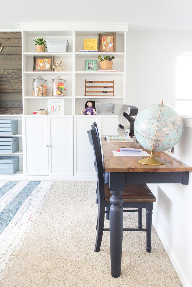 Eclectic farmhouse playroom