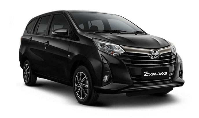 gambar Toyota Calya warna hitam terbaru