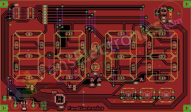 Desain PCB Jam Digital Fans Electronics
