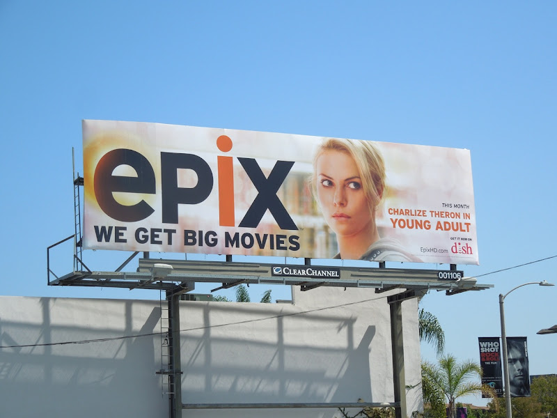 Charlize Theron Epix movie billboard