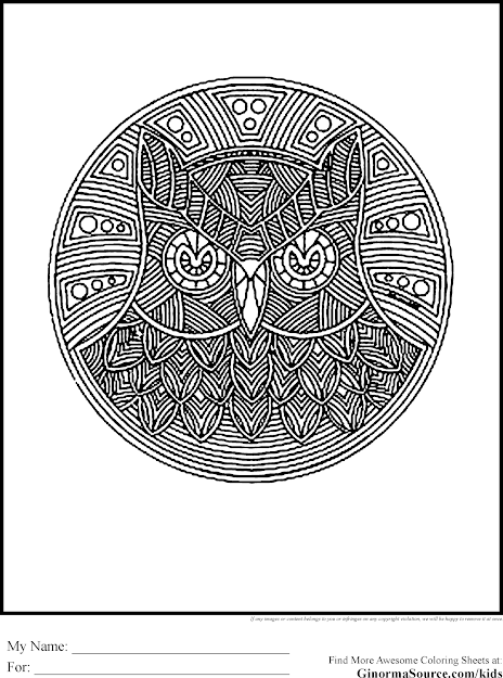 Drawing Of Owls For Adults Owl Coloring Pages Free Printable Owl