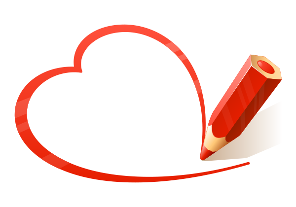 Red Pencil Heart