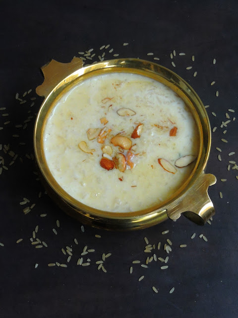 Brown Rice Paal Payasam, Brown Rice Milk Pudding