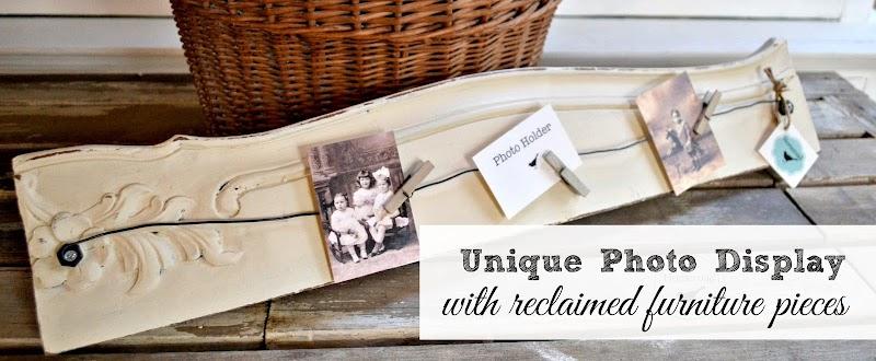 Repurposed Antique Furniture into Photo Displays