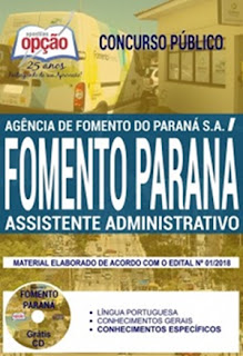Apostila da Fomenta Paraná 2018 CD grátis