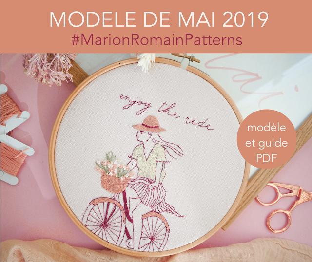 Modèle et guide broderie du mois de mai 2019  #MarionRomainPatterns