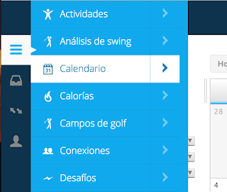 garmin connect calendario