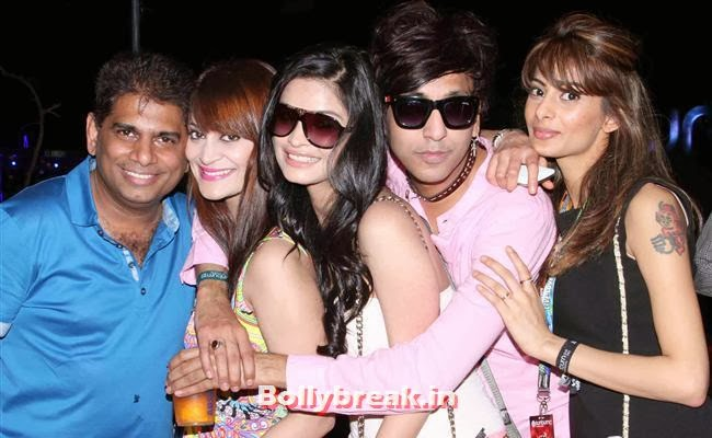 Mohammad Fasih, Candy Brar, Rehan Shah WIth Sophy, Goa Party Pics 2013, Goa Sunburn Festival Pics 2013