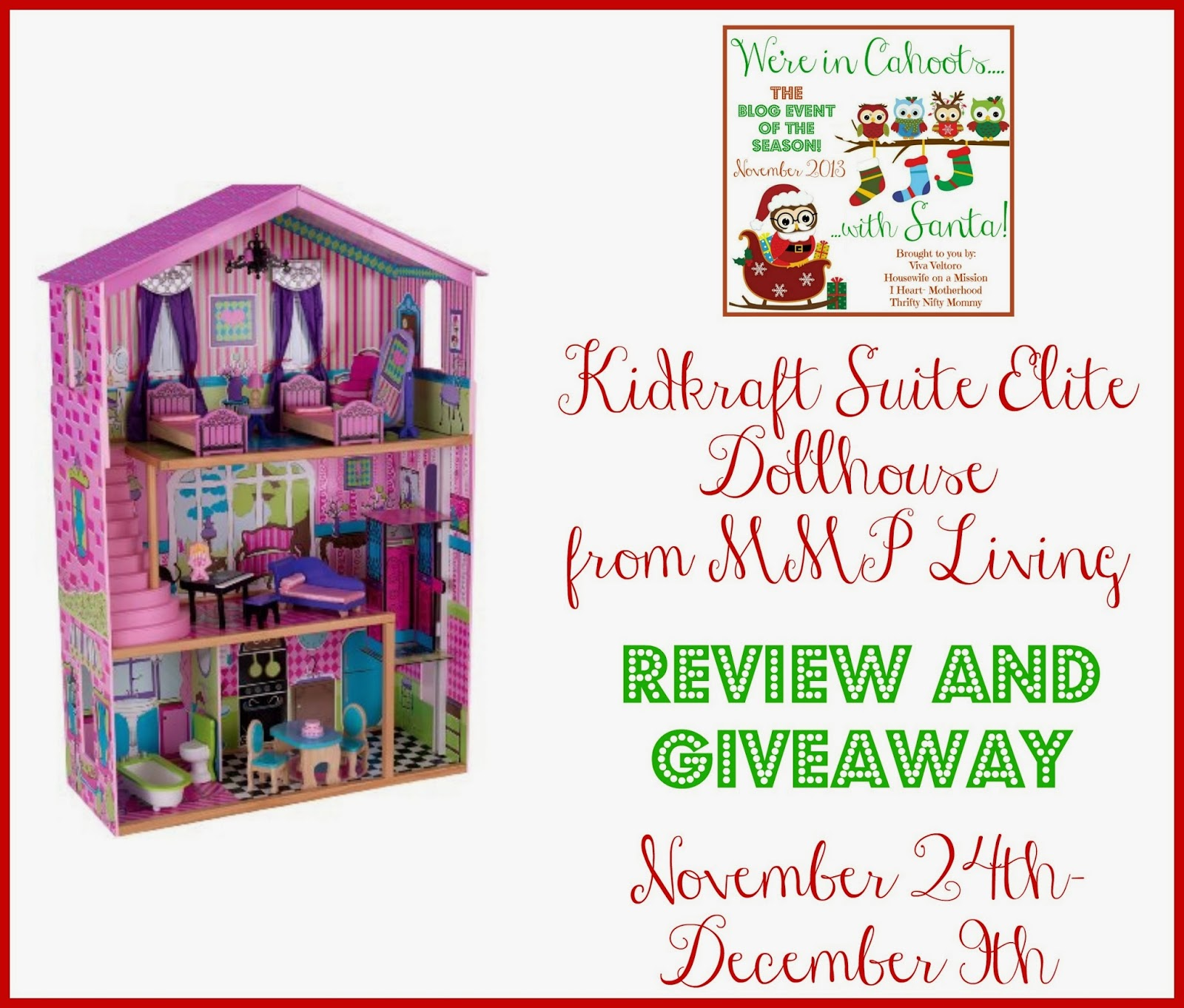 Kidkraft Suite Elite Mansion Dollhouse #Giveaway #InCahoots | Viva