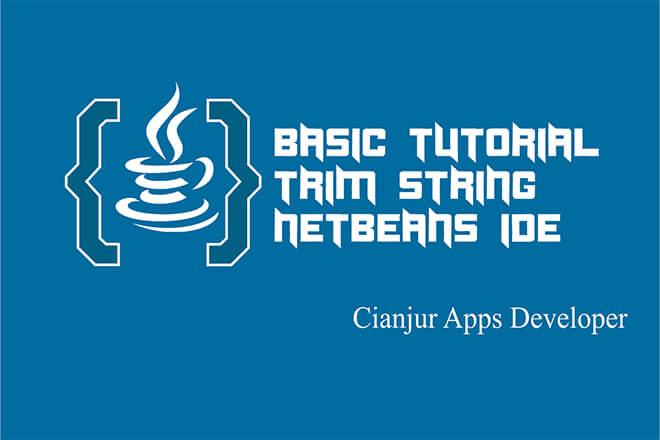 Belajar Menggunakan Fungsi trim String Pada Java
