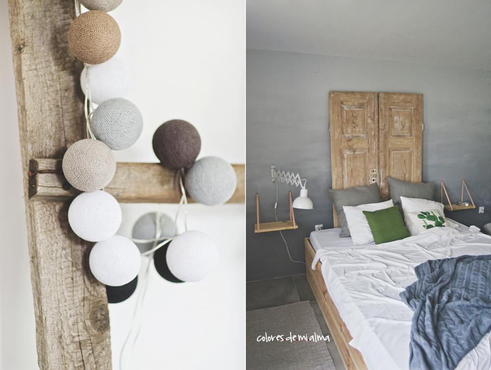bedroom gradientwall, olddoor, interior