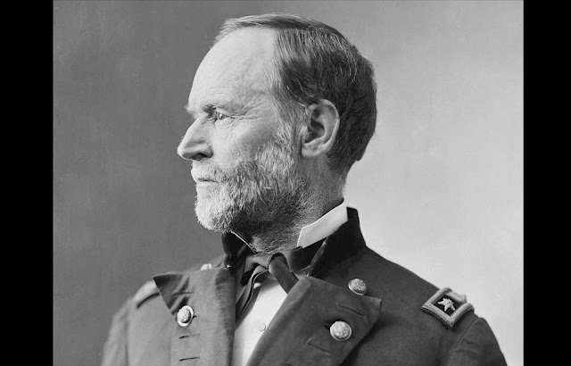 William Tecumseh Sherman, a graduate of the United States Military Academy at West Point, served as a General in the Union Army, commanding several campaigns. Perhaps best known was his capture of Atlanta, Georgia, after which his troops began