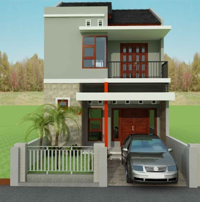 Contoh Rumah Minimalis 2 Lantai type 45 Terlengkap