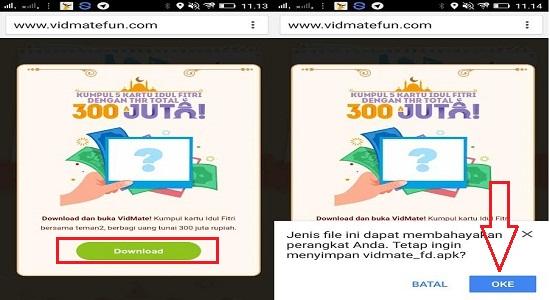 Vidmate : Cara Mendapatkan Uang Tunai Hingga 300 Juta Terbaru dari Aplikasi Vidmate