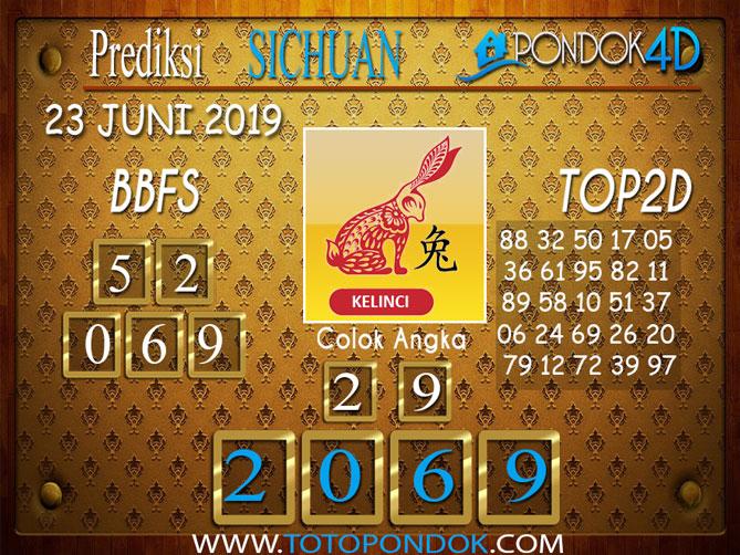 Prediksi Togel SICHUAN PONDOK4D 23 JUNI 2019