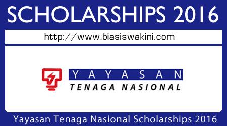 Yayasan Tenaga Nasional Scholarship 2016