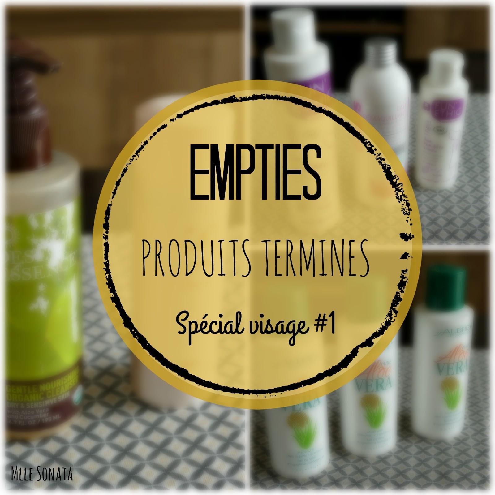 Empties : produits terminés spécial visage #1.