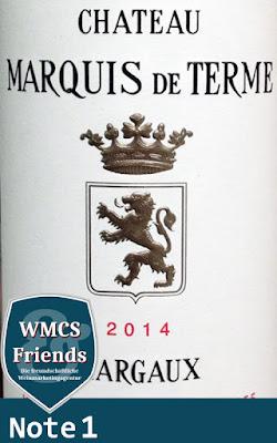 Château Marquis de Terme Margaux 4ème Cru Classé 2014