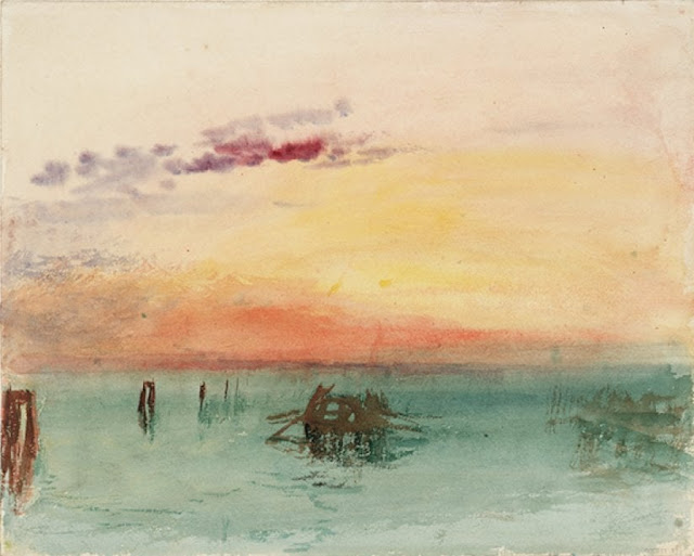 J.M.W. Turner, Venice: Looking across the Lagoon at Sunset, 1840, acquerello su carta, 244x304 mm Tate, London 2018