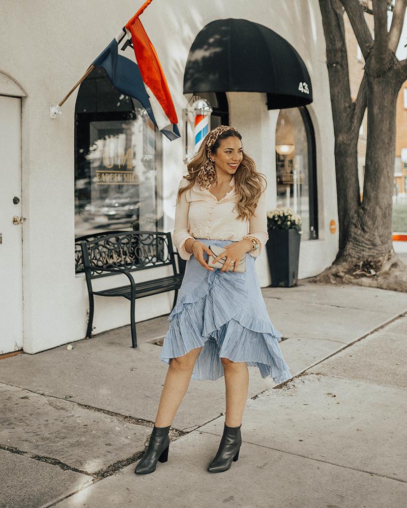 ruffled asymmetrical skirt, fashion blogger, fashion influencer