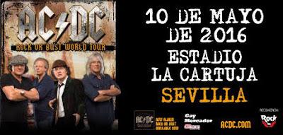 ACDC en directo en Sevilla en 2016
