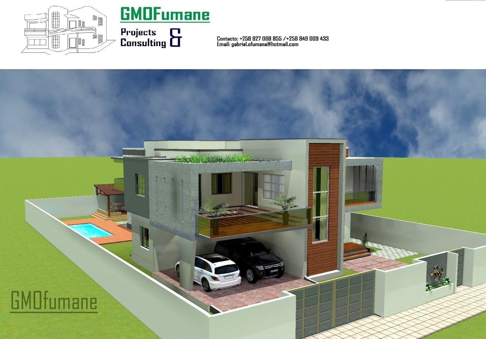 Gmofumane projectos e consultoria for Casa moderna de 7 00m x 15 00m