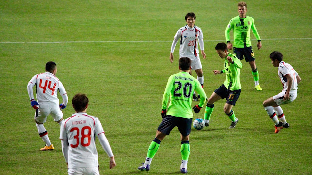 The last time these two teams met in Jeonju, it resulted in a 2-1 victory to the home team. (Photo Credit: Howard Cheng)