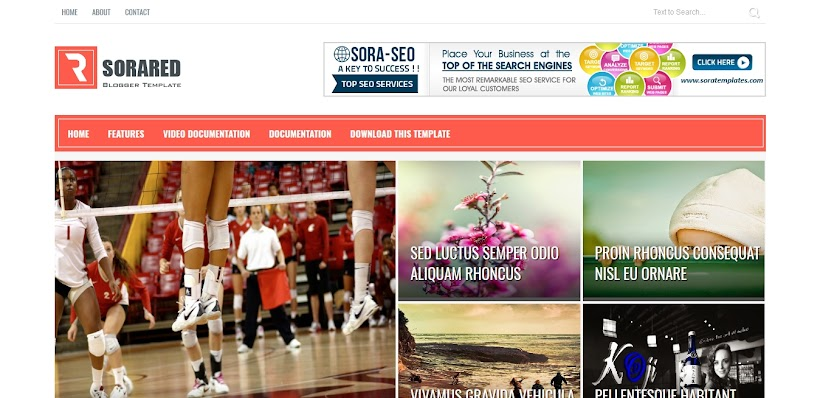 Sora Red Free Blogger Template