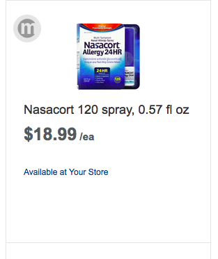 picture relating to Nasacort Coupon Printable identify Discount coupons for nasacort nasal spray : Ninja cafe nyc coupon codes