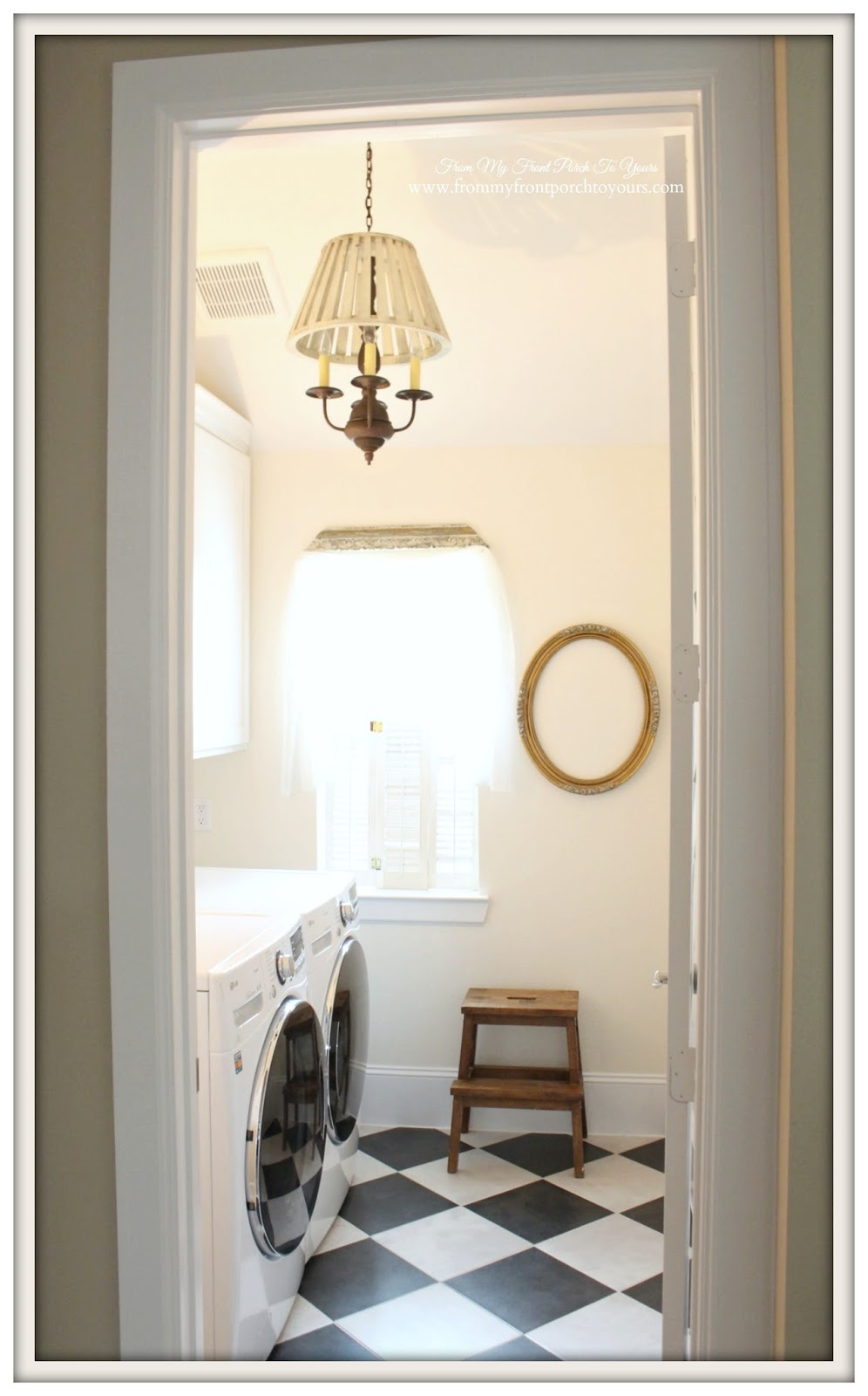 Farmhouse Laundry Room French Steamed Milk Sherwin Williams From My Front Porch