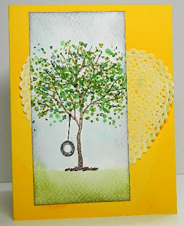 When Life Throws You a Curve Swing Card by Katemade Designs.